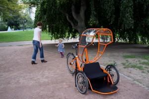 Carry Bike mit hochgeklappter Trommelumrandung