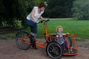 Carryo Bike in Fahrt